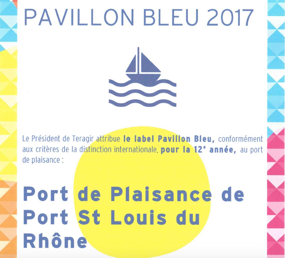 Port-Saint-Louis, Port propre et Pavillon bleu